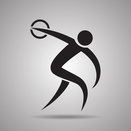 discus Icône jet de sport et symbole