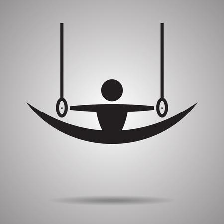 symbol sport: Gymnastikringe Sportanlage und Symbol