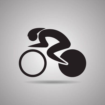 サイクリングのスポーツ アイコンとシンボルを追跡します。