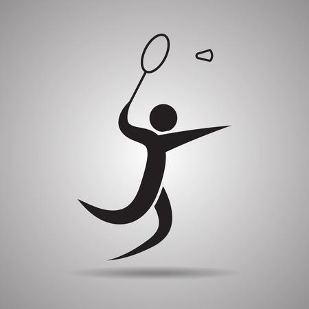 slap: Badminton sport Icon and symbol Illustration