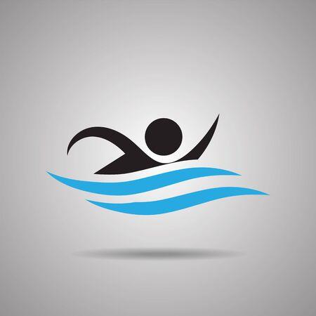 symbol sport: Schwimmen Sport Symbole und Zeichen