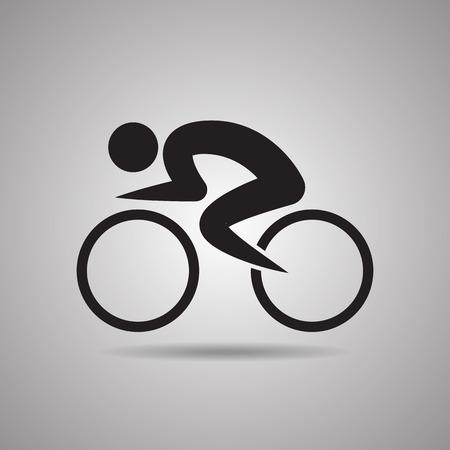 symbol sport: Radweg Spieler Sport Symbole und Zeichen Illustration