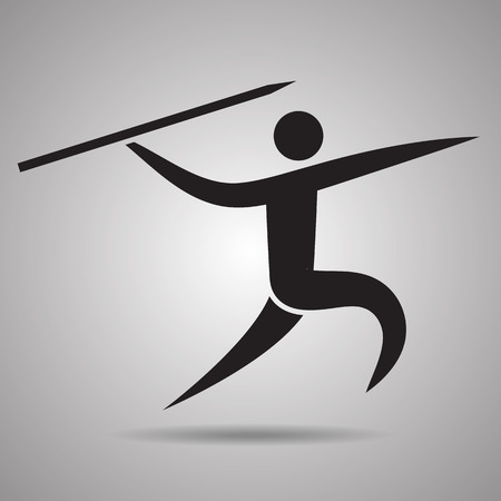 throwing: throwing the javelin sport Icon and symbol