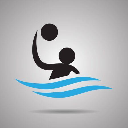 symbol sport: Wasserball Sport-Symbol und das Symbol