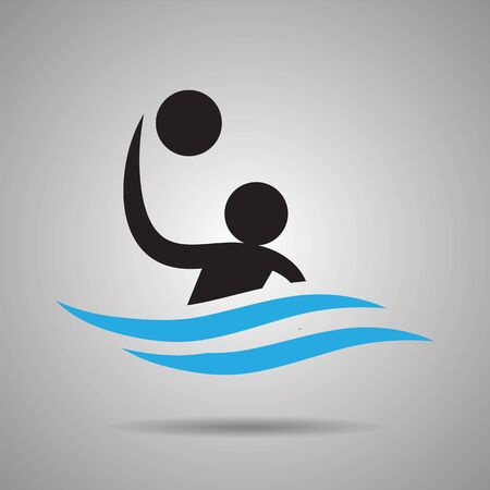 polo sport: Water polo sport Icon and symbol