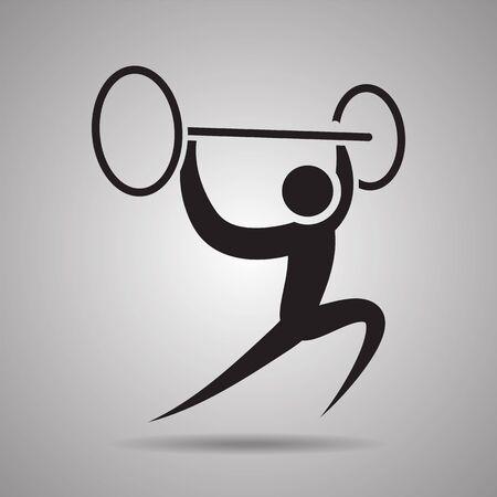 symbol sport: Gewichtheber Sport Symbole und Zeichen