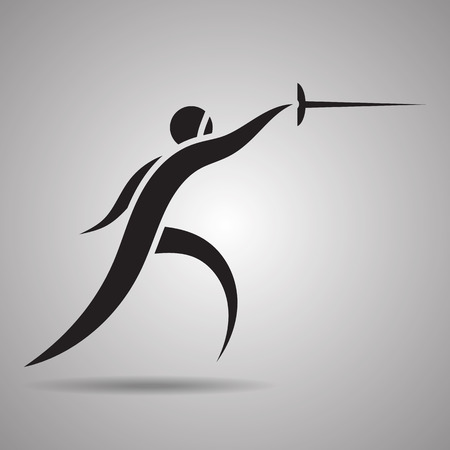 pentathlon: Fencing sport icons and symbol