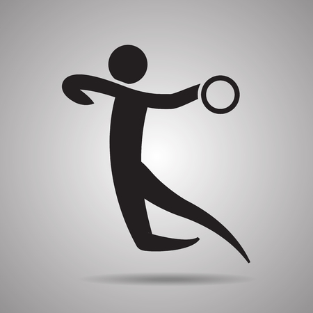 symbol sport: Handball-Spieler Sport-Symbol und das Symbol