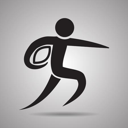 symbol sport: Rugby-Spieler Sport-Symbol und das Symbol