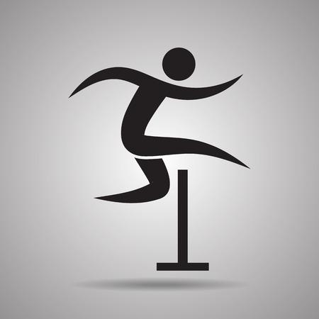 hurdle: Hurdle sport icon and symbol Illustration