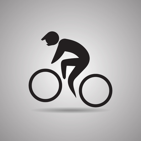 biking: Extreme bike stunt sport icon and symbol