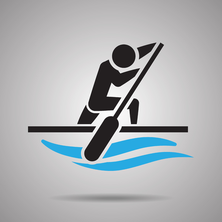 rower: Canoe kayak sprint  sport icon and symbol