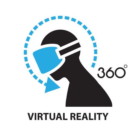 virtual reality, icoon en symbool Vector Illustratie