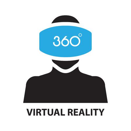 virtual reality ,icon and symbol Vector Illustration