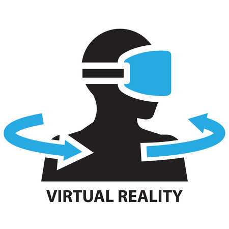 rotate: virtual reality ,icon and symbol