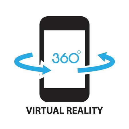 rotate icon: virtual reality ,icon and symbol