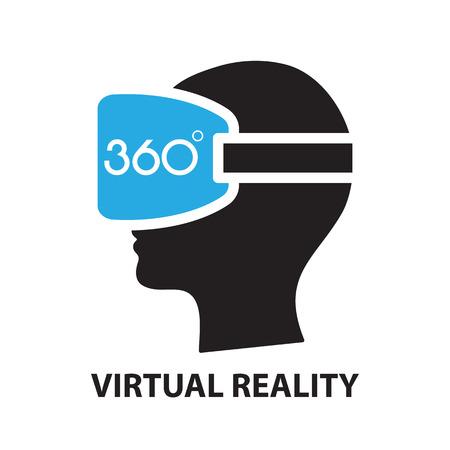 realidad virtual, icono y símbolo
