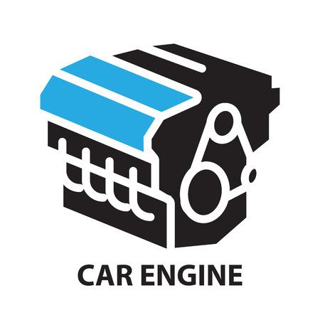 Car Engine ,icon and symbol Stock Illustratie