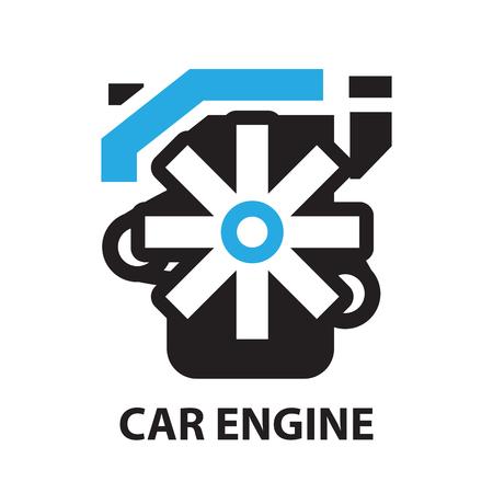 dock: Car Engine ,icon and symbol Illustration