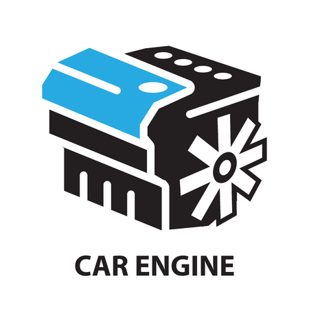 Car Engine ,icon and symbol Çizim