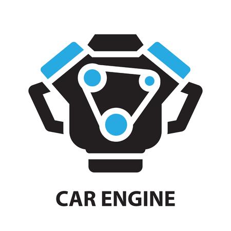Car Engine ,icon and symbol Ilustração