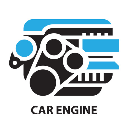 Car Engine ,icon and symbol Иллюстрация