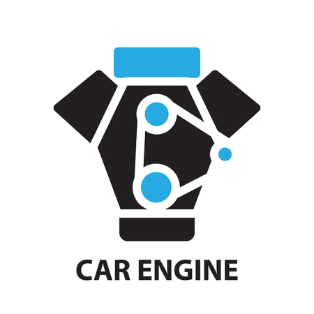car engine: Car Engine ,icon and symbol Illustration