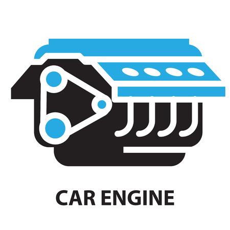 timing belt: Car Engine ,icon and symbol Illustration