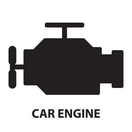 combustion: Car Engine ,icon and symbol Illustration