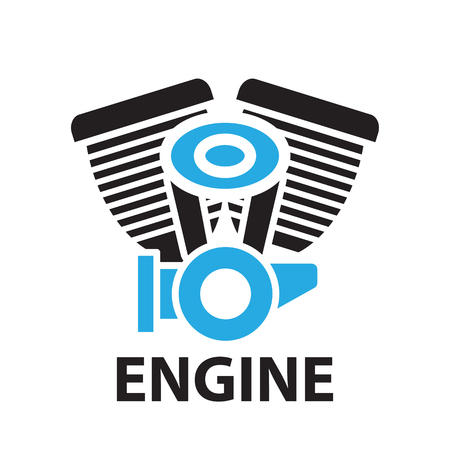 opposed: motorcycle engine ,icon and symbol