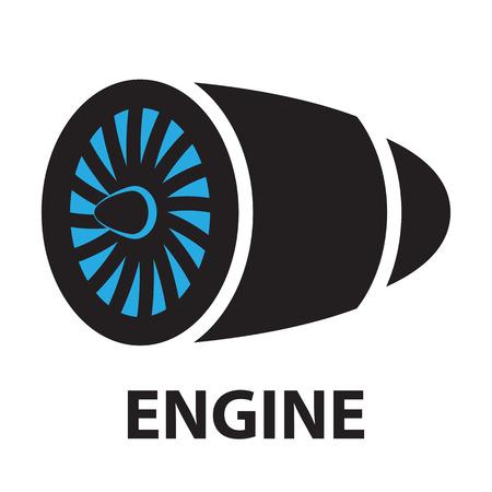 aircraft engine: Turbines Technology aircraft, engine ,icon and symbol