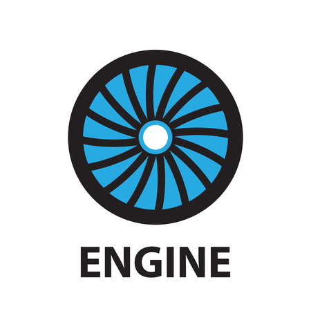 aircraft engine: Turbines Technology aircraft, engine ,icon and symbol