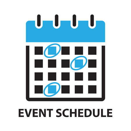 event planner: Calender Planner Organization Management Remind Concept,event schedule vector icon and symbol Illustration