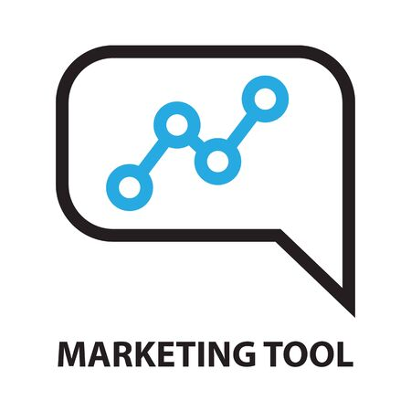 users video: marketing tool vector icon and symbol Illustration