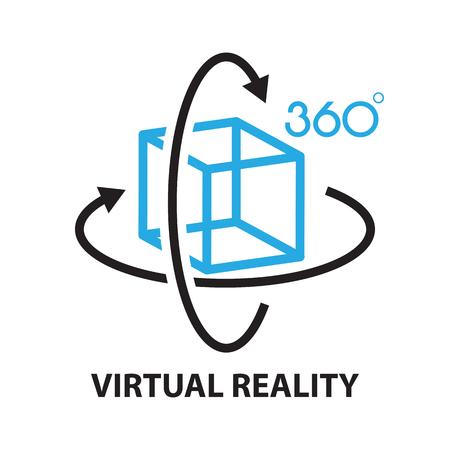rzeczywistość wirtualna, ikona i symbol