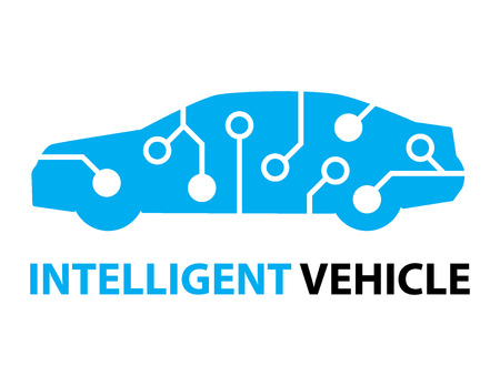 voiture intelligente, icône de véhicule intelligent et le symbole