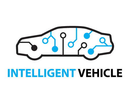 intelligent: smart car,Intelligent Vehicle icon and symbol