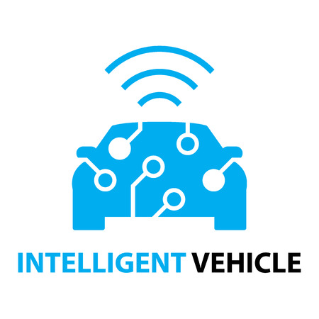 smart car,Intelligent Vehicle icon and symbol