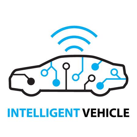 smart car,Intelligent Vehicle icon and symbol
