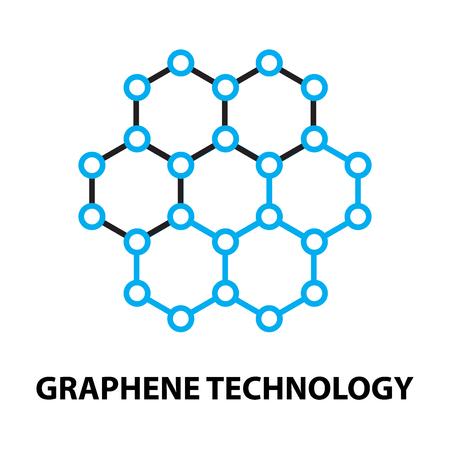 El grafeno nano tecnología de iconos y símbolos