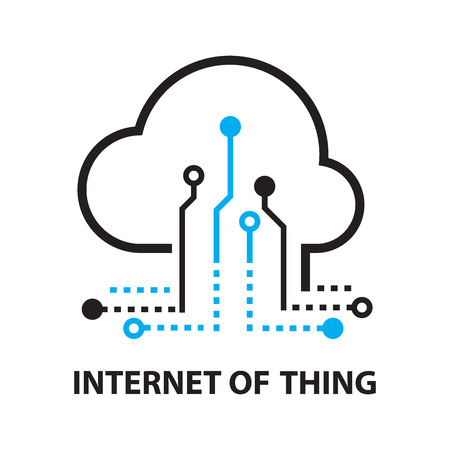 Cloud IOT Internet of Things Icon, and symbol Stock Illustratie