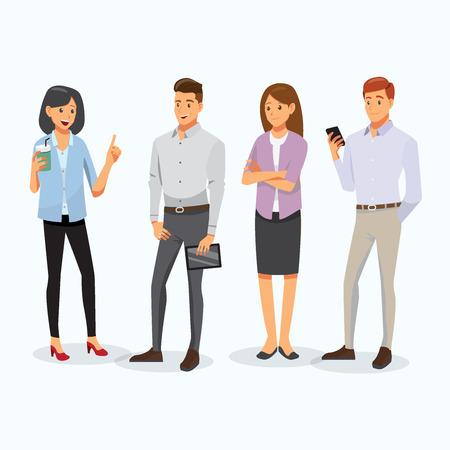 business men and women character , vector Stock Illustratie