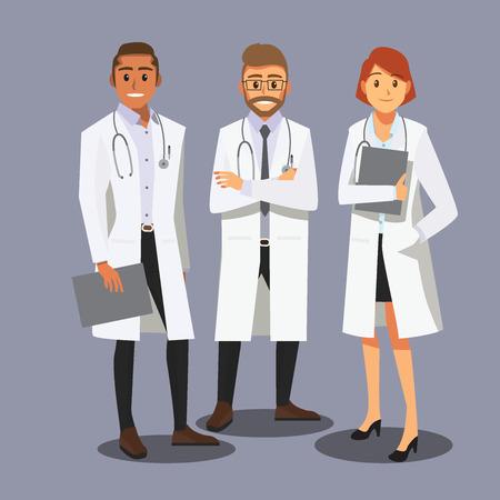doctors smiling: Smiling medical doctors team