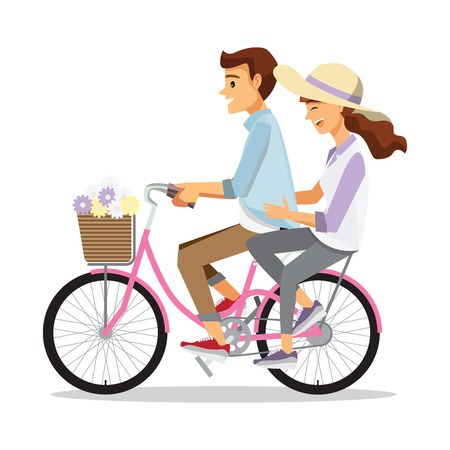 headwear: Couple on bicycle,Cartoons character family