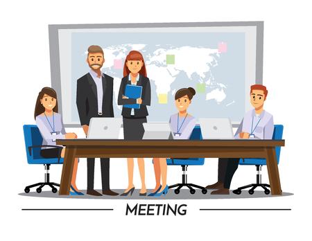 associate: Business People teamwork ,Vector illustration cartoon character.
