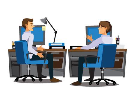 medium group of people: Business People teamwork,Vector illustration cartoon character
