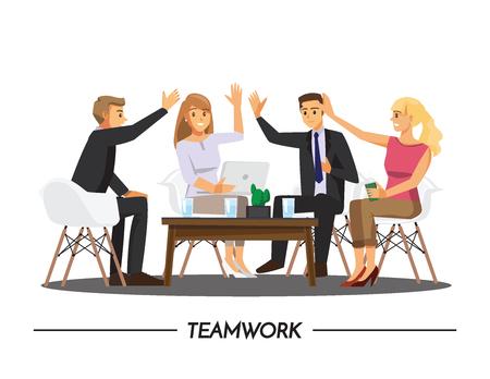 happy woman: Team Teamwork Join Hands Partnership Concept