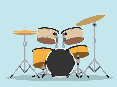 drum kit  and drummer  (drums, instruments, musical)