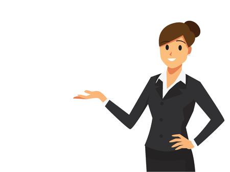 Businesswoman at a presentation  Illustration