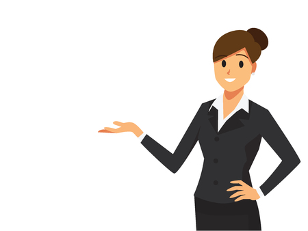 Businesswoman at a presentation  Illustration